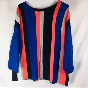 Stylus Vertically Striped Sweater Blouse